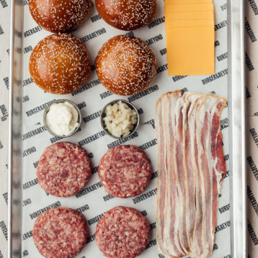 Bacon Butter Burger Kit  (Serves 4)