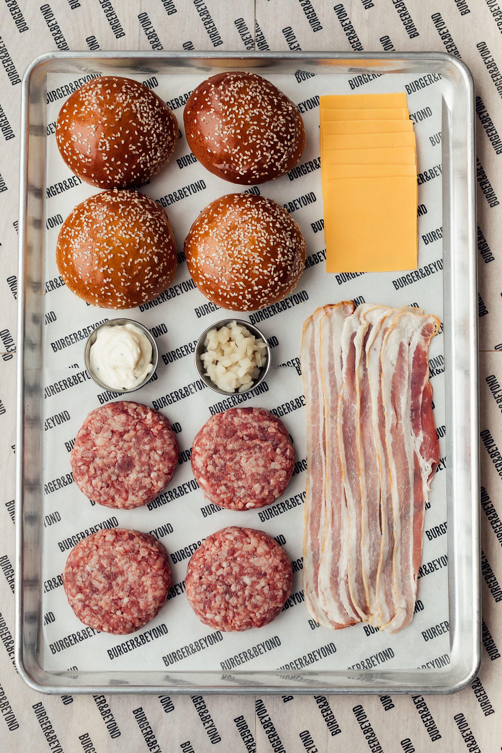 Bacon Butter Burger Kit Serves 4 Burger Beyond